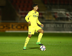 October 4, 2017 - Dagenham, England, United Kingdom - Sergio Lozano of Villarreal Under 23s.during Premier League International Cup match between West Ham United Under 23s and Villarreal Under 23s at Dagenham and.Redbridge Football Club  Chigwell Construction Stadium, Dagenham,  England on 04 Oct 2017. (Credit Image: © Kieran Galvin/NurPhoto via ZUMA Press)