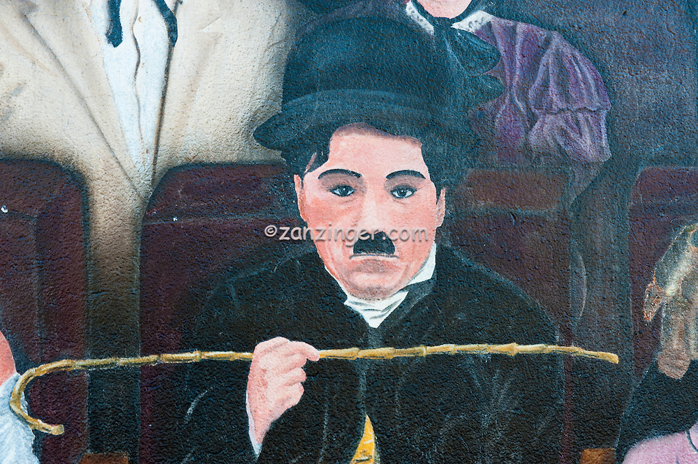 """Charlie chaplin """"You are the Star""""  Hollywood, CA, Wall,  Mural"""