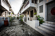 Philippines, Manila. Street of tombs on the Chinese Cemetery.
