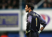 Photo: Lee Earle.<br /> Portsmouth v Aston Villa. The Barclays Premiership. 02/12/2006. Portsmouth keeper David James looks dejected after conceding a penalty.