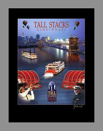 Signed and numbered 18x24 poster collage from 2003's Tall Stacks festival