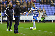 Everton's manager Roberto Martinez gives instructions during the Capital One Cup match between Reading and Everton at the Madejski Stadium, Reading, England on 22 September 2015. Photo by Mark Davies.