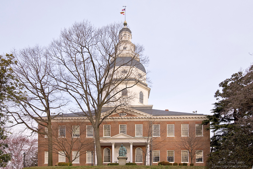 MD Building and Real Estate photographer images of Annapolis State House