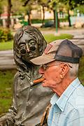 Cuba, Havana, John Lennon statue in John Lennon Park