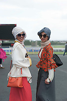 29/07/2014 Sara Her and Amy Gid from Saudi Arabia at the Tuesday evening meeting of the Galway Summer racing Festival. Photo: Andrew Downes