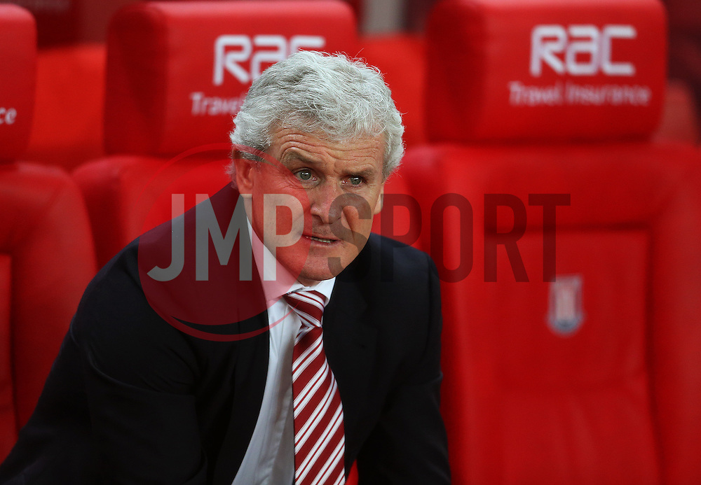 Stoke City manager Mark Hughes - Mandatory by-line: Matt McNulty/JMP - 01/02/2017 - FOOTBALL - Bet365 Stadium - Stoke-on-Trent, England - Stoke City v Everton - Premier League