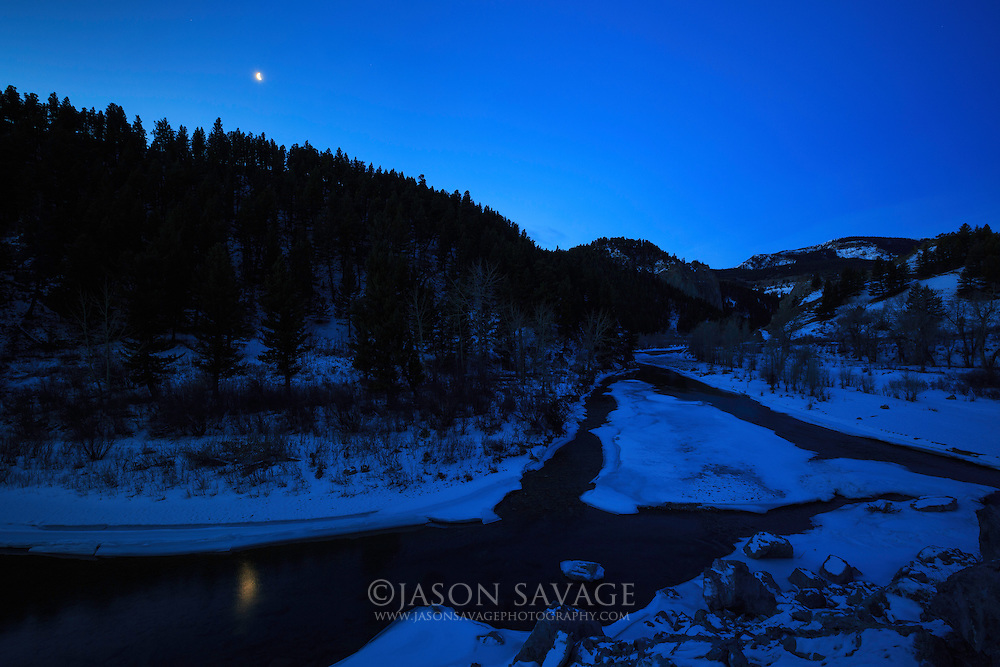 Early morning along the Deerborn River. Rocky Mountain Front, Montana.