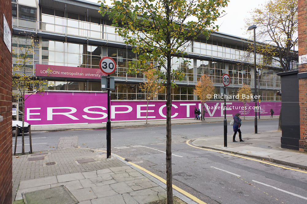 Exterior of London Metropolitan University's Holloway Road campus.
