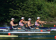 Lucerne, SWITZERLAND. Heat of the Men's Double Sculls CRO M2X, <br /> and LAT M2X 2015 FISA World Cup III, Lake Rotsee,  10:15:13  Friday  10/07/2015   [Mandatory Credit. Peter SPURRIER/Intersport Images.