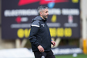 3rd November 2018, Fir Park, Motherwell, Scotland; Ladbrokes Premiership football, Motherwell versus Dundee; Motherwell assistant manager Keith Lasley during the warm up