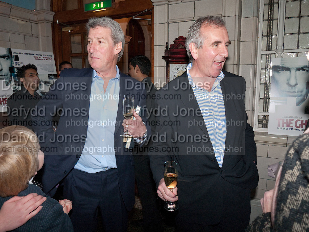 JEREMY PAXMAN; ROBERT HARRIS, Special preview screening of the Ghost. Introduced by the book's author Robert Harris. The Courthouse Hotel Great Marlborough St. London. 30 March 2010.