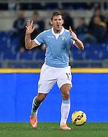 FUSSBALL INTERNATIONAL   SERIE A   10. Spieltag   SAISON 2014/2015 Lazio Rom - Cagliari Calcio    03.11.2014 Miroslav Klose (Lazio Rom) emotional