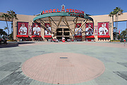 ANAHEIM, CA - JUNE 6:  General view of the stadium entrance before the Los Angeles Angels of Anaheim game against the Chicago White Sox at Angel Stadium on Friday, June 6, 2014 in Anaheim, California. The Angels won the game 8-4. (Photo by Paul Spinelli/MLB Photos via Getty Images)