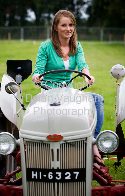 8/9/2008.Sarah Wilcock daughter of one of the site owners pictured at the launch press launch of he National Ploughing Championships in Kilkenny yesterday..Picture Dylan Vaughan.