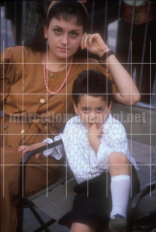 Italian soprano Cecilia Gasdia and his son Giovanni Battista (1991) / Il soprano Cecilia Gasdia e suo figlio Giovanni Battista (1991) - © Marcello Mencarini