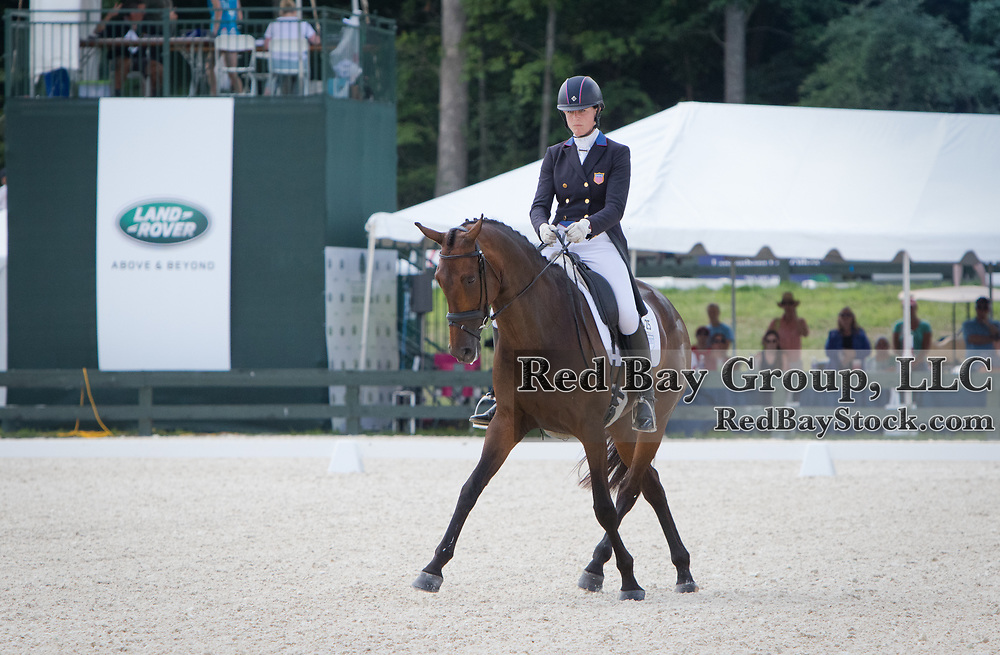 Lauren Kieffer riding Veronica competes in the Dressage phase at the 2016 Land Rover Great Meadow International on Saturday, July 9, 2016, at the Great Meadow Foundation in The Plains, VA.