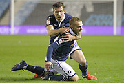 GOAL 1-1 Millwall midfielder Jiri Skalak(26) scores and celebrates with Millwall defender Ryan Leonard (28) during the EFL Sky Bet Championship match between Millwall and Bolton Wanderers at The Den, London, England on 24 November 2018.
