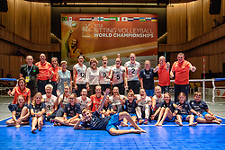 16-07-2018 NED: World Championship sitting volleyball women, Arnhem<br /> Netherlands - Rwanda 3-0 / Oranje op de foto met Prinses Margriet en de ballenkinderen