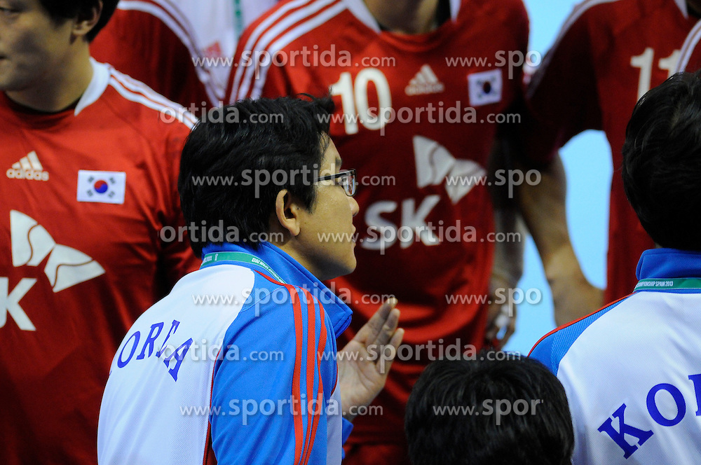 Sup Sang Lee during the match against Slovenia