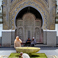 Ablution Fountain at Kairaouine Mosque in Fes el Bali at Fez, Morocco<br />