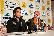 BELGIUM / TELENET FIDEA CYCLING TEAM / CYCLOCROSS / VELDRIJDEN / 2012-2013 / PRESS CONFERENCE / PERSCONFERENTIE / TOM MEEUSEN / HANS VAN KASTEREN /
