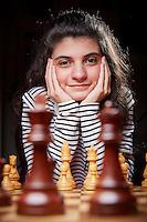 Den Haag , 26 oktober 2015 - Portret Anna-Maja Kazarian. Zij is Europees kampioen schaken geworden.<br /> Foto: Phil Nijhuis