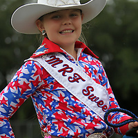 Kelly Harper of Inverness, Florida sits atop her horse during the 129th performance of the PRCA Silver Spurs Rodeo at the Silver Spurs Arena   on Friday, June 1, 2012 in Kissimmee, Florida. (AP Photo/Alex Menendez) Silver Spurs rodeo action in Kissimee, Florida. PRCA rodeo event in Florida. The 129th annual running of the cowboy event.