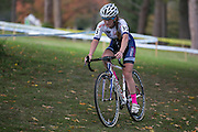 Ellen Noble competes in the Elite Women's race at the Ellison Park Cyclocross Festival in Rochester on Saturday, October 11, 2014.