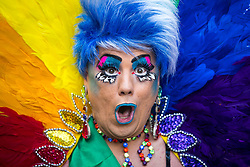 August 26, 2017 - Manchester, England, United Kingdom - Pride parade through Manchester City Centre. The annual festival, which is the largest of its type in Europe, celebrates LGBT life. (Credit Image: © Joel Goodman/London News Pictures via ZUMA Wire)