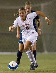 Virginia Cavaliers M/D Alli Fries (8)..The Virginia Cavaliers faced the Liberty Flames at Klockner Stadium in Charlottesville, VA on September 21, 2007