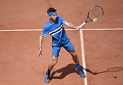 May 30, 2018 - Paris, France - PARIS,FRANCE - MAY 30 :  Corentin Moutet (FRA) at The French Open Roland Garros on may 30, 2018 in Paris, (Credit Image: © Panoramic via ZUMA Press)