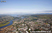 aerial photograph of the Clydebank Glasgow Scotland
