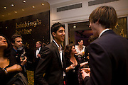 Dev Patel; NICK HOULT, The London Critics' Circle Film Awards 2009 in aid of the NSNCC. Grosvenor House Hotel . Park Lane. London. 4 February 2009 *** Local Caption *** -DO NOT ARCHIVE -Copyright Photograph by Dafydd Jones. 248 Clapham Rd. London SW9 0PZ. Tel 0207 820 0771. www.dafjones.com<br /> Dev Patel; NICK HOULT, The London Critics' Circle Film Awards 2009 in aid of the NSNCC. Grosvenor House Hotel . Park Lane. London. 4 February 2009