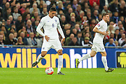 England's Ross Barkley on the ball during the UEFA European 2016 Qualifier match between England and Estonia at Wembley Stadium, London, England on 9 October 2015. Photo by Shane Healey.