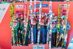 24.03.2018, Planica, Ratece, SLO, FIS Weltcup Ski Sprung, Planica, Skiflug, Teambewerb, Finale, im Bild Deutschland, Norwegen, Slowenien // Germany Norway Slovenia during the Ski Flying Hill team competition of the FIS Ski Jumping World Cup Final 2018 at Planica in Ratece, Slovenia on 2018/03/24. EXPA Pictures © 2018, PhotoCredit: EXPA/ JFK