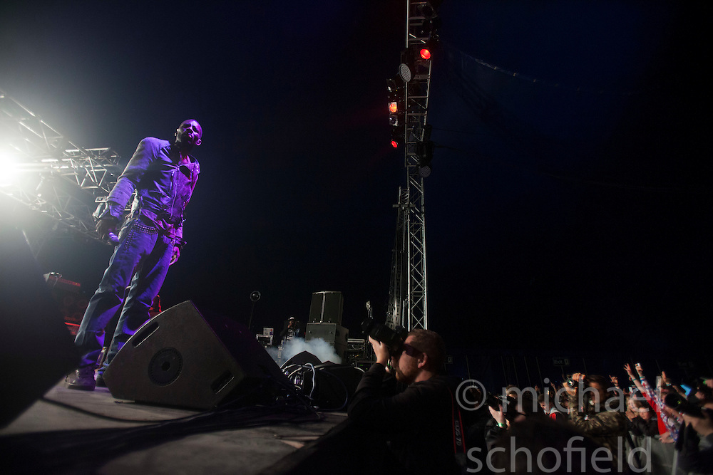 Wretch 32 play the Goldenvoice Arena tent..Rockness 2012..©Michael Schofield..