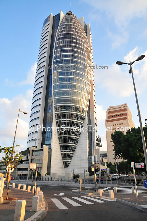 Israel, Haifa, Downtown, The Sail Tower high-rise building