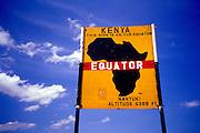Image of the equator's sign near Nanyuki in Kenya, Africa
