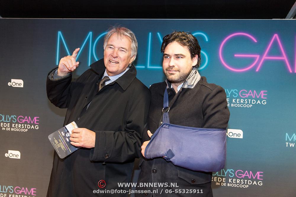 NLD/Amsterdam/20171212 - Première Molly's Game, Ron Brandsteder en zijn zoon Bob