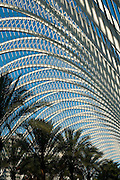 'L'Umbracle' detail at the City of arts and sciences, Valencia, Spain, Europe