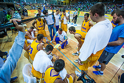 Team Ukraine during friendly basketball match between National teams of Slovenia and Ukraineat day 1 of Adecco Cup 2015, on August 21 in Koper, Slovenia. Photo by Grega Valancic / Sportida