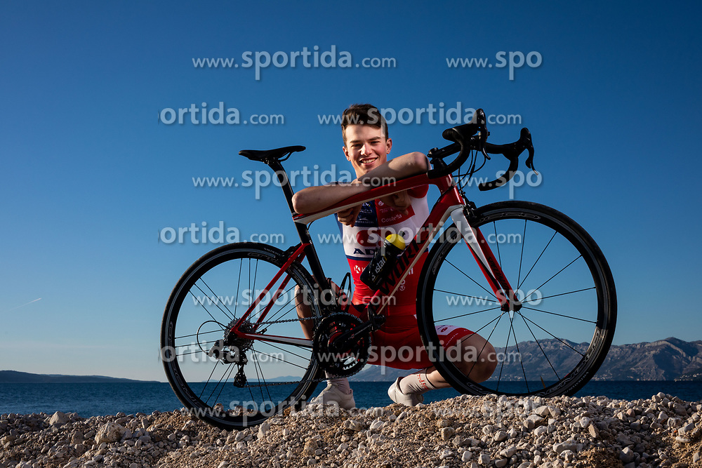 Aljaz Omrzel during official photo session of Continental Team - Adria Mobil Cycling before new season 2020, on January 30, 2020 in Makarska, Croatia. Photo by Vid Ponikvar / Sportida