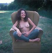 Marina Topless, Glastonbury, 1994.