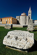 Roman forum and the church of St Donatus (Sv Donat), Zadar, Croatia