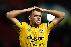 Zach Mercer of Bath Rugby looks on after the match - Mandatory byline: Patrick Khachfe/JMP - 07966 386802 - 18/10/2019 - RUGBY UNION - Ashton Gate Stadium - Bristol, England - Bristol Bears v Bath Rugby - Gallagher Premiership