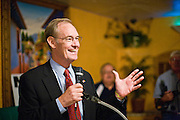 "13 OCTOBER 2010 - SOUTH TUCSON, AZ: Terry Goddard speaks at a Democratic ""Unity Rally"" at Rigo's in South Tucson. Goddard spent the day in Tucson campaigning. Goddard lost the election to sitting Governor Jan Brewer, a conservative Republican.     PHOTO BY JACK KURTZ"