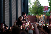 Papa Roach performing at the Q101 Jamboree at the First Midwest Bank Amphitheater in Tinley Park, IL on June 4, 2011