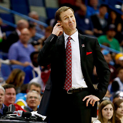 Feb 13, 2013; New Orleans, LA, USA; Portland Trail Blazers head coach Terry Stotts against the New Orleans Hornets during the second quarter of a game at the New Orleans Arena. Mandatory Credit: Derick E. Hingle-USA TODAY Sports