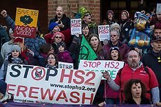 2020-02-01 Save the Colne Valley/Stop HS2 protest in Boris Johnson's constituency