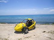 Mexico, Yucatan, Tulum beach buggy